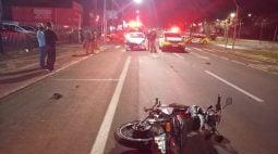 Motociclista de 48 anos fica em estado grave após acidente no Bairro São Cristóvão
