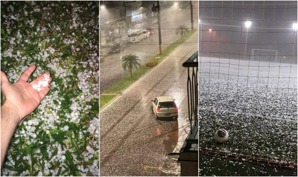 Chuva de granizo causa estragos no Rio Grande do Sul; veja imagens