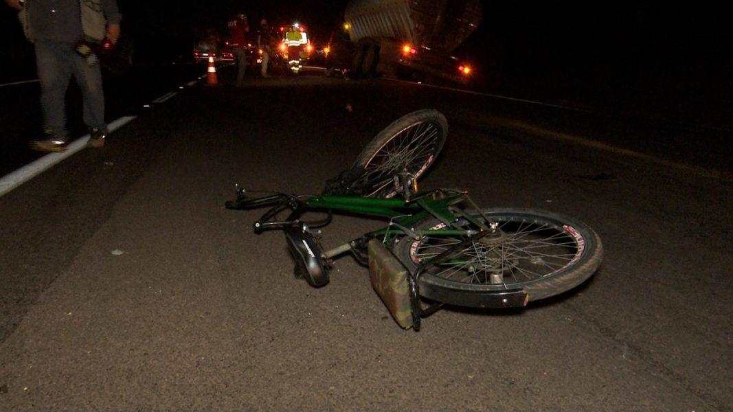 Ciclista morre em acidente na BR-277, em Cascavel