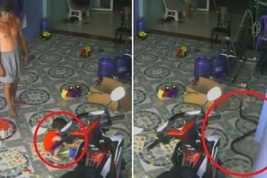 Vídeo: cobra invade casa e tenta atacar bebê de 2 anos