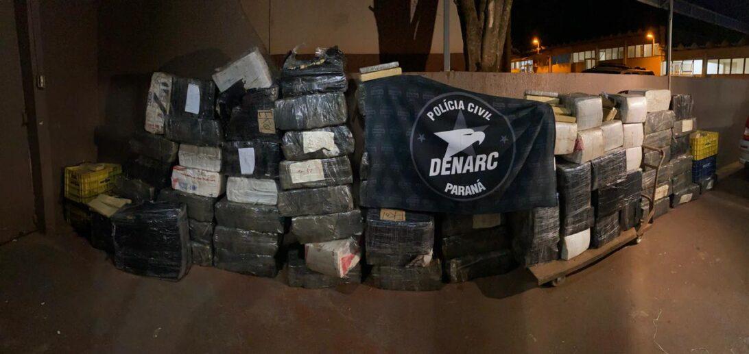 Denarc localiza 1.800 quilos de maconha em meio a carga de latinhas
