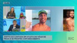 Anitta dá cantada em atleta do vôlei de praia e se frustra com descoberta