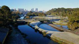 Veja imagens do amanhecer desta terça-feira (20) no Paraná; termômetros chegaram a -7,8ºC