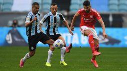 Grêmio e Internacional não acham o gol e só empatam no Campeonato Brasileiro