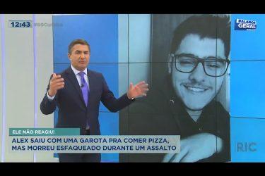 Alex saiu com uma garota pra comer pizza, mas morreu esfaqueado durante um assalto