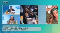Anitta deixa de seguir amigos famosos nas redes sociais