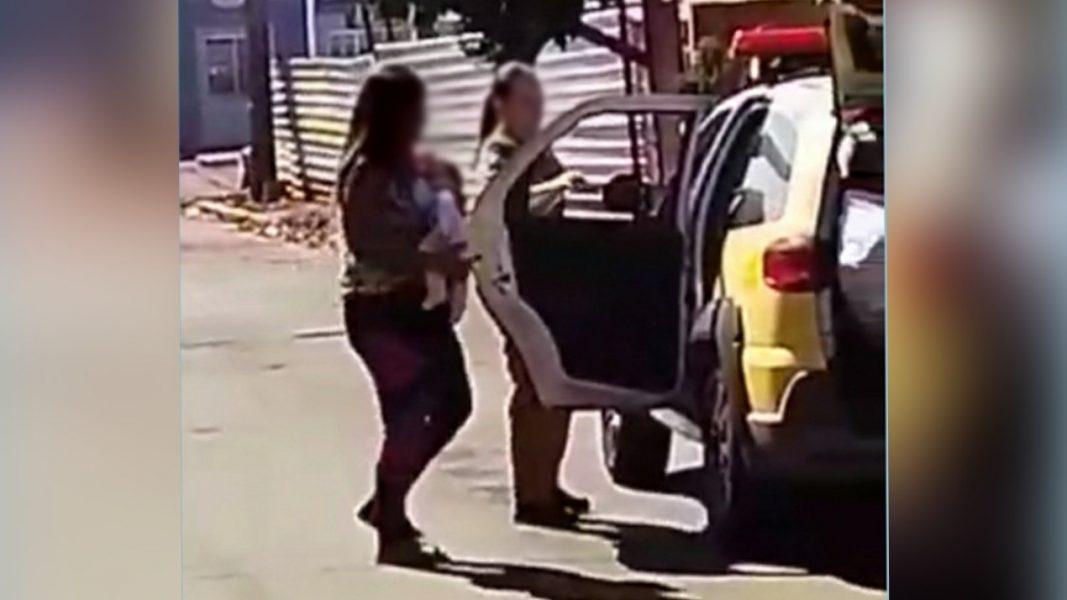 Mulher com filho recém-nascido é presa suspeita de furto em cemitério de Miraselva