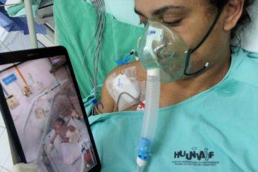 Mães internadas na UTI-Covid de hospitais universitários conhecem filhos recém-nascidos