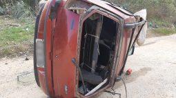 Motorista cai de ribanceira de 8 metros no Contorno Norte, é ejetado do veículo e socorrido em estado grave