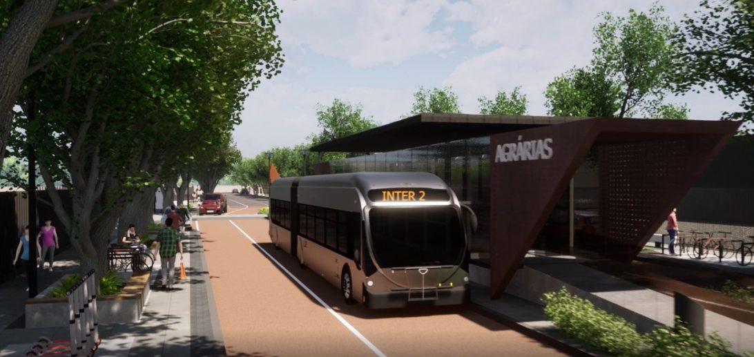 Inter 2 terá 100% das linhas com ônibus elétrico em 5 anos, diz presidente do Ippuc