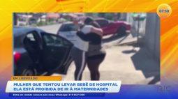 Mulher que tentou levar bebê de hospital está proibida de ir à maternidades