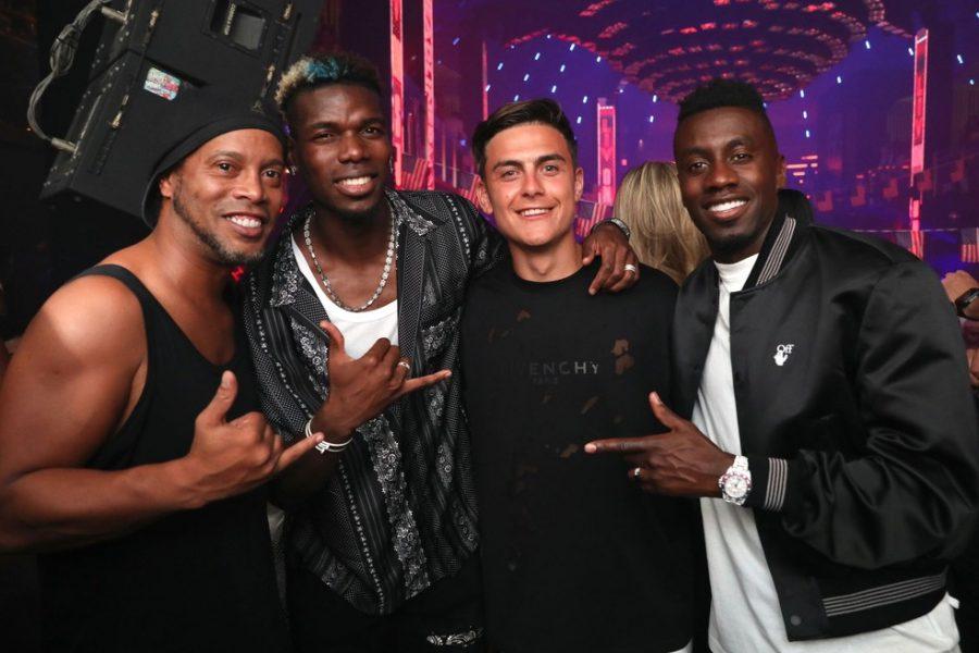 Ronaldinho Gaúcho encontra Pogba, Dybala e Matuidi em boate nos EUA