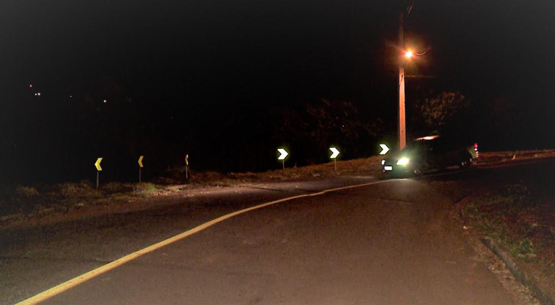 Depois de dois acidentes, barranco da zona oeste de Londrina ganha sinalização