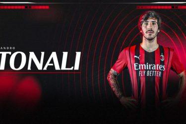 Milan oficializa permanência de Tonali até 2026