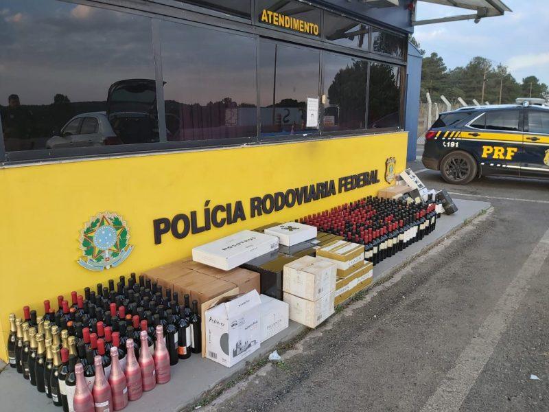 Irmãos são presos com 585 garrafas de vinho argentino; mercadoria está avaliada em R$ 175 mil