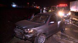 Acidente deixa 11 feridos na BR-376; carro tinha 8 pessoas à bordo