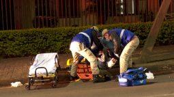 Adolescente fratura a perna em acidente no Centro de Cascavel