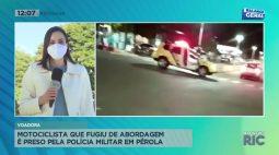 Motociclista que fugiu de abordagem é preso pela polícia militar em pérola