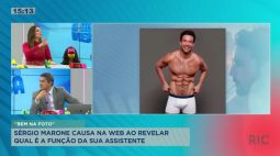 Sérgio Marone causa na web ao revelar qual é a função da sua assistente