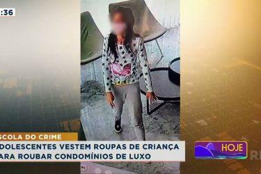 Adolescentes vestem roupas de criança para roubar condomínios de luxo