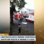 Motociclista perde controle em Avenida, bate em poste e perde a vida em Apucarana