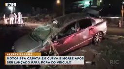 Motorista capota em curva e morre após ser lançado para fora do veículo