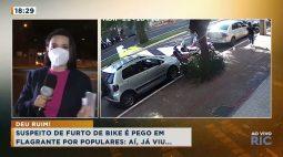 Suspeito de furto de bicicleta é pego em flagrante por populares