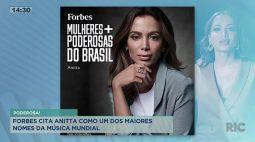 Forbes cita Anitta como um dos maiores nomes da música mundial