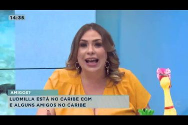 Ludmilla está no caribe com youtuber londrinense