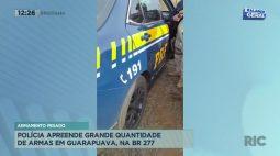 Polícia apreende grande quantidade de armas em Guarapuava, na BR-277