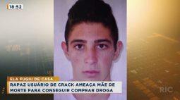 Rapaz usuário de crack ameaça mãe de morte para conseguir comprar droga