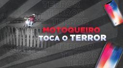 Motoqueiro bandido que só ataca mulheres é flagrado praticando assaltos em bairro de Curitiba