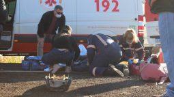 Motociclista fica em estado grave após acidente na PR-488, em Santa Helena