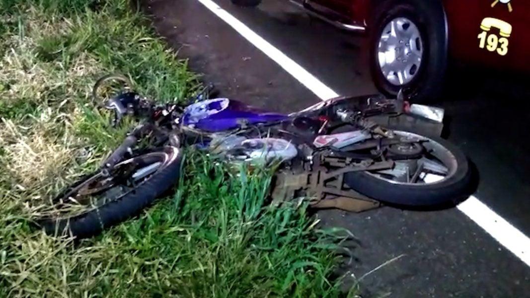 Motociclista fica em estado grave após acidente na marginal PRc-467, em Cascavel