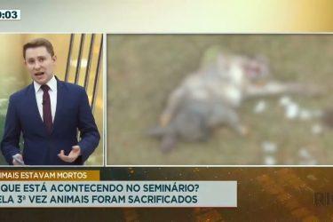 Pela 3ª vez animais foram sacrificados no Seminário