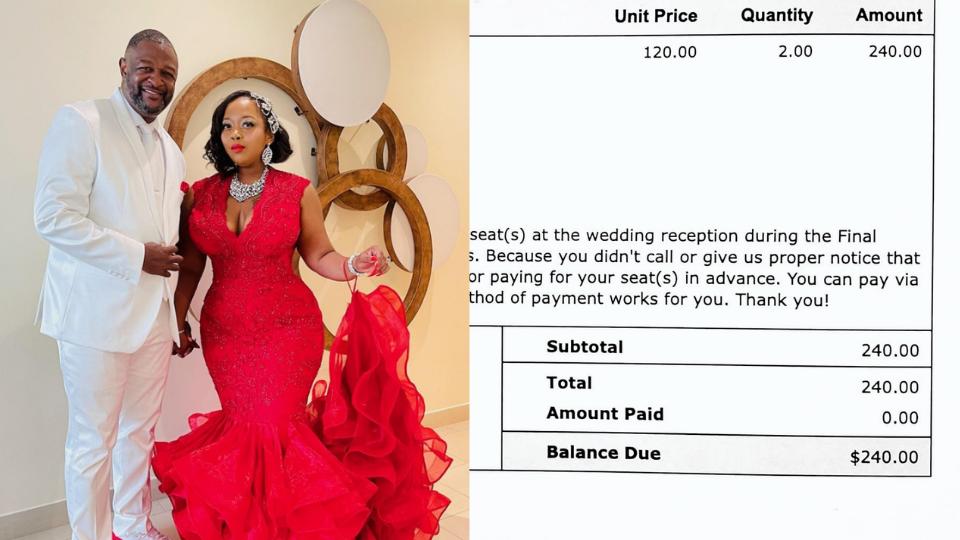 Casal cobra R$ 1200 de convidados que confirmaram presença no casamento, mas não foram