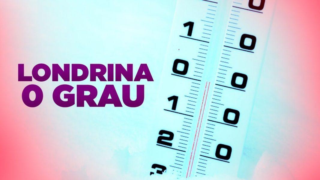 Termômetro oficial marca 0,5° c aqui em Londrina, mas sensação é de muito menos