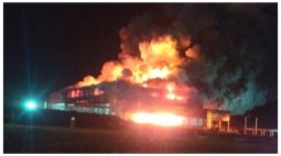 Incêndio consome prédio em construção dentro de cooperativa no Oeste
