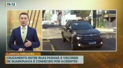 Cruzamento entre ruas Paraná e Visconde de Guarapuava é conhecido por acidentes
