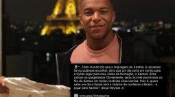 "Santos brinca após 'lobby' de Neymar por Mbappé na Vila: ""É só chegar"""