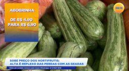 A alta do preço dos hortifrutis é reflexo das perdas com as geadas