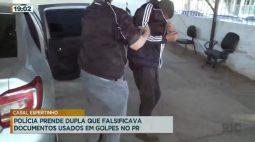 Polícia prende dupla que falsificava documentos usados em golpes no Paraná