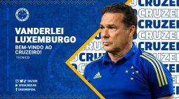 Cruzeiro anuncia retorno do técnico Vanderlei Luxemburgo