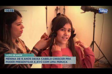 Menina de nove anos deixa cabelo crescer pra poder presentear a avó com uma peruca