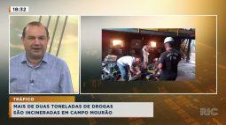 Mais de duas toneladas de drogas são incineradas em Campo Mourão