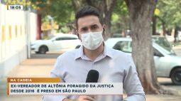 Ex-vereador de Altônia foragido da justiça desde 2016 é preso em São Paulo
