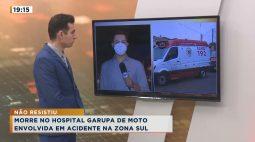 Morre no hospital garupa de moto envolvida em acidente na Zona Sul