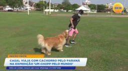 """Casal viaja com cachorro pelo paraná na expedição """"Um Chopp pelo Mundo"""""""