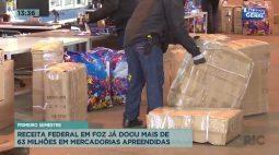 Receita Federal em Foz do Iguaçu já doou mais de 63 milhões em mercadorias apreendidas