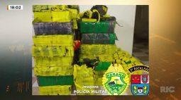 Kombi com uma tonelada e meia de maconha é encontrada pela Polícia Militar